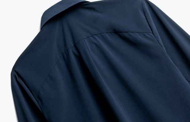 Close up of Womens Navy Juno Blouse - Back