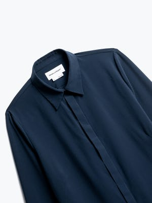Close up of Womens Navy Juno Blouse - Front
