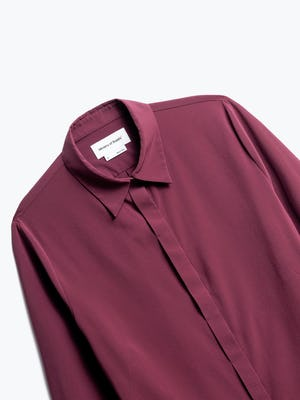 Close up of Womens Ruby Juno Blouse - Front