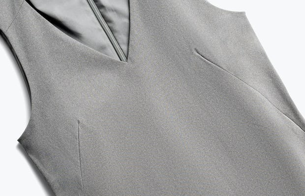 Close up of Womens Grey Heather Kinetic A-Line Dress - Front