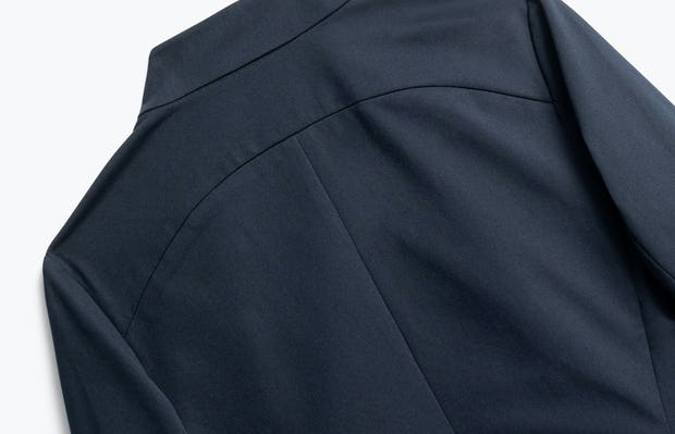 Close up of Womens Navy Kinetic Blazer - Back