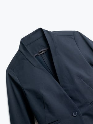Close up of Womens Navy Kinetic Blazer - Front
