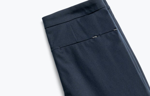 Close up of Womens Navy Kinetic Skinny Pants - Back