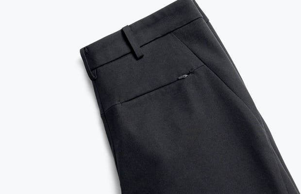 Close up of Womens Black Kinetic Slim Pants - Back