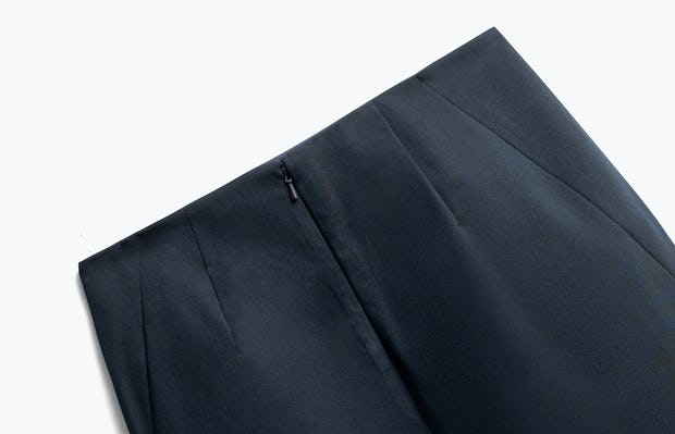 Close up of Womens Navy Kinetic Pencil Skirt - Back