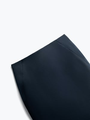 Close up of Womens Navy Kinetic Pencil Skirt - Front