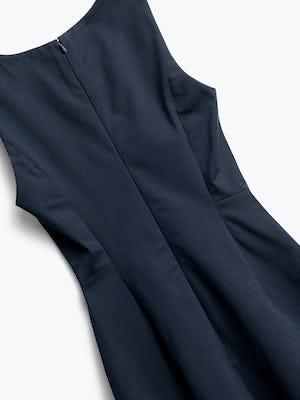 Close up of Womens Navy Kinetic Sheath Dress - Back