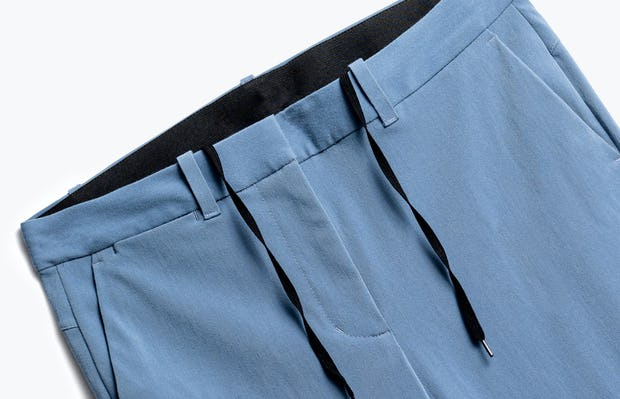 Close up of Womens Storm Blue Momentum Chino - Front