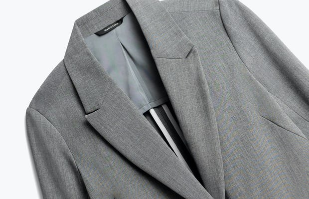 Close up of Womens Light Grey Velocity Blazer - Front