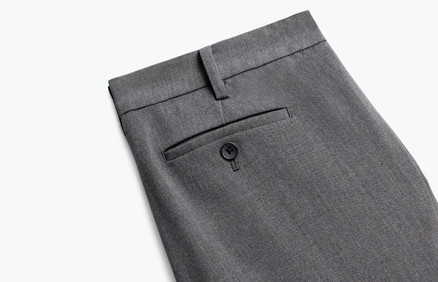 Close up of Womens Charcoal Heather Velocity Crop Pants - Back