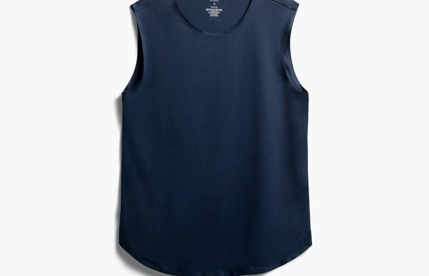 Luxe touch tank in indigo flat front