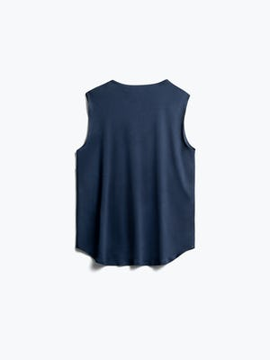 Luxe touch tank in indigo flat back