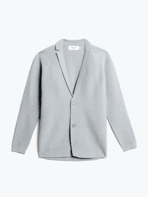 men's light grey 3d print-knit blazer front