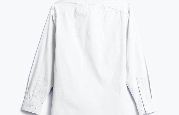 men's white aero dress shirt shot of back