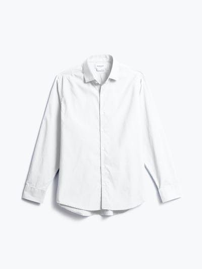 men's white aero dress shirt shot of front