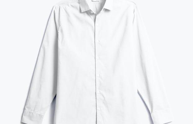men's white aero dress shirt shot of front