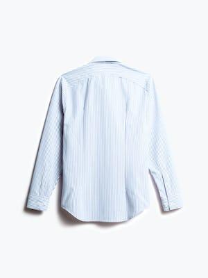 men's blue stripe aero dress shirt shot of back