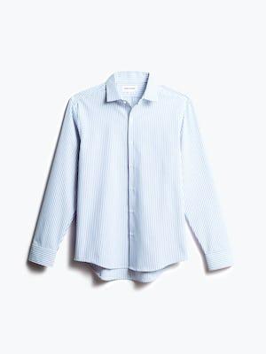 men's blue stripe aero dress shirt shot of front