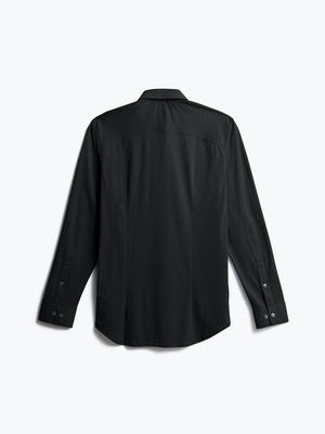 men's black apollo dress shirt shot of back
