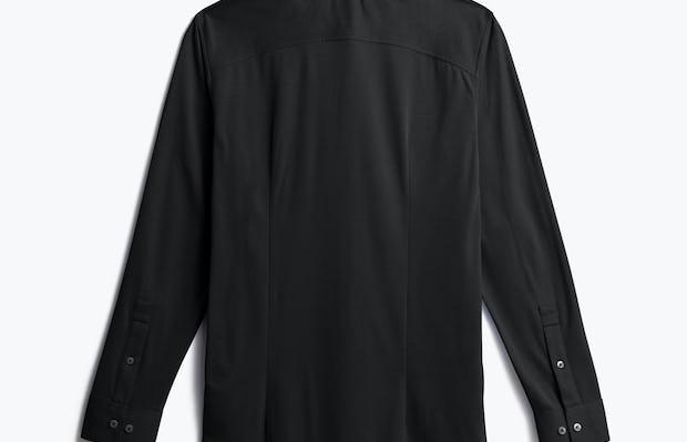 men's black apollo dress shirt shot of back