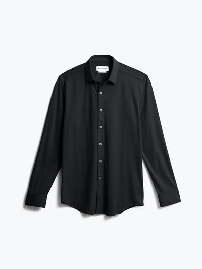 men's black apollo dress shirt shot of front