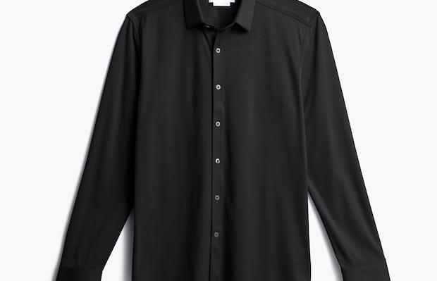 men's black apollo dress shirt shot of front