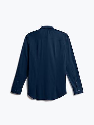 men's navy blue brushed apollo dress shirt shot of back