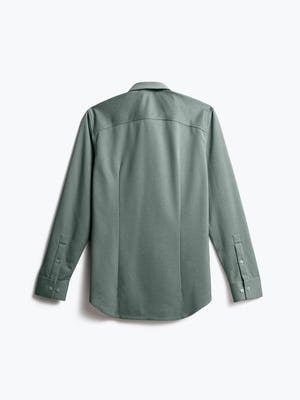 Back of Men's Apollo Dress Shirt in Olive heather