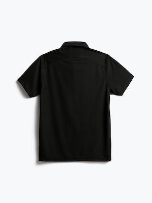 men's black apollo polo shot of back
