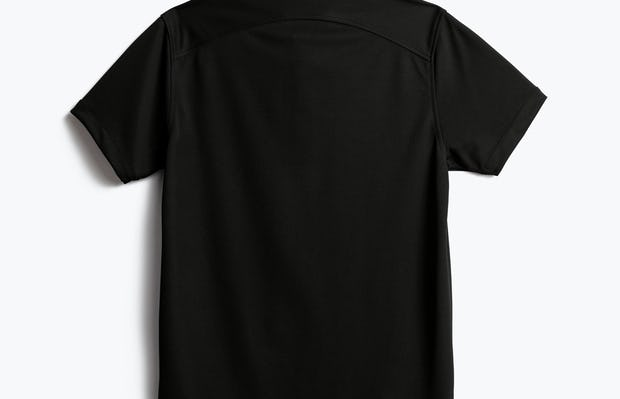men's black apollo polo shot of back