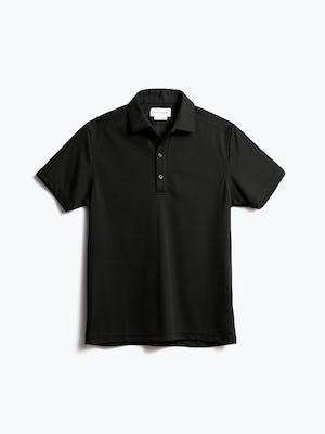 men's black apollo polo shot of front
