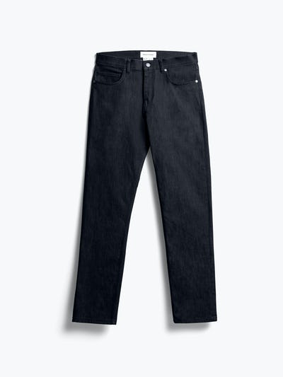 men's black chroma denim shot of front