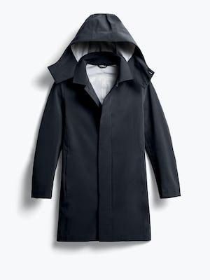 men's black doppler mac raincoat shot of front