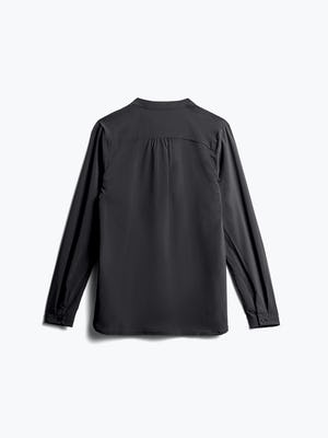 Womens Black Juno Patch Pocket Blouse - Back