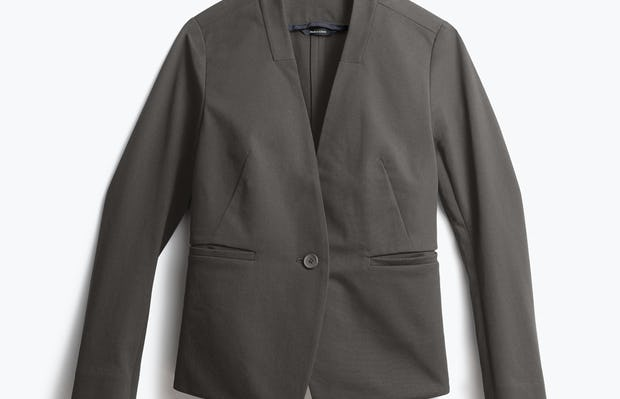 Womens Charcoal Heather Kinetic Blazer - Front