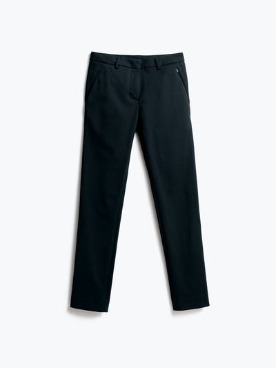 Womens Navy Kinetic Slim Pants - Front