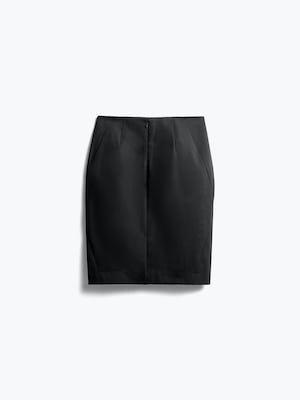 Womens Black Kinetic Pencil Skirt - Back