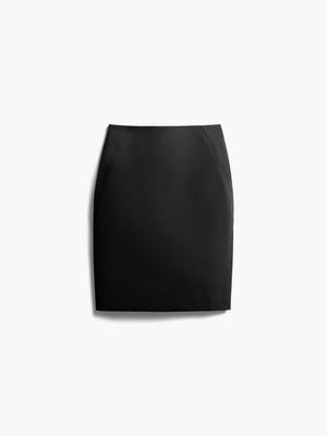 Womens Black Kinetic Pencil Skirt - Front