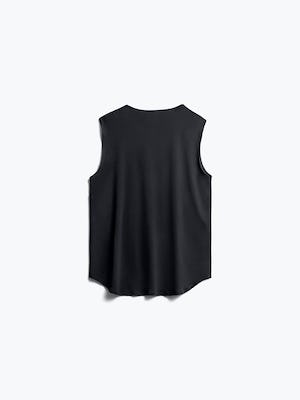 Womens Black Luxe Touch Tank - Back