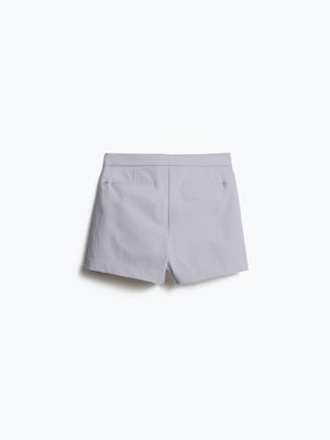 Womens Light Grey Momentum Shorts - Back