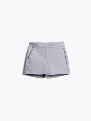 Womens Light Grey Momentum Shorts - Front