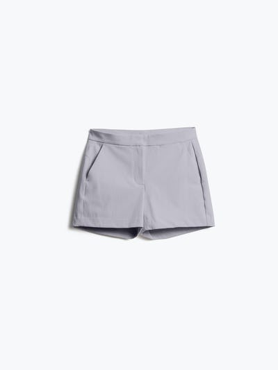 Womens Light Grey Momentum Shorts - Front