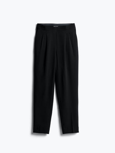 Womens Black Swift Drape Pant - Front
