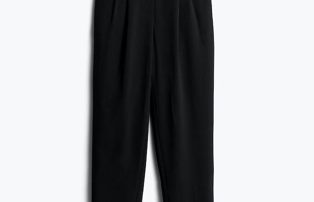 Womens Black Swift Drape Pant - Front