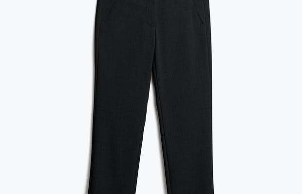 Womens Black Velocity Crop Pant - Front