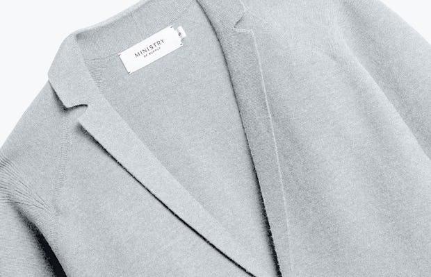 Close up of Light Grey 3D Print Knit - Front