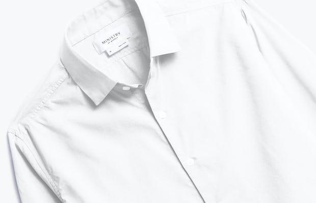 Close up of Mens White Aero Dress Shirt - Front