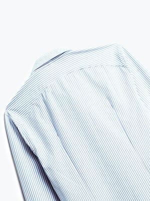 Close up of Mens Blue Stripe Aero Zero Dress Shirt - Back