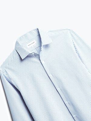 Close up of Mens Blue Stripe Aero Zero Dress Shirt - Front