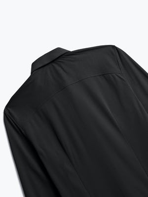 Men's Black Brushed Apollo Dress Shirt close up back